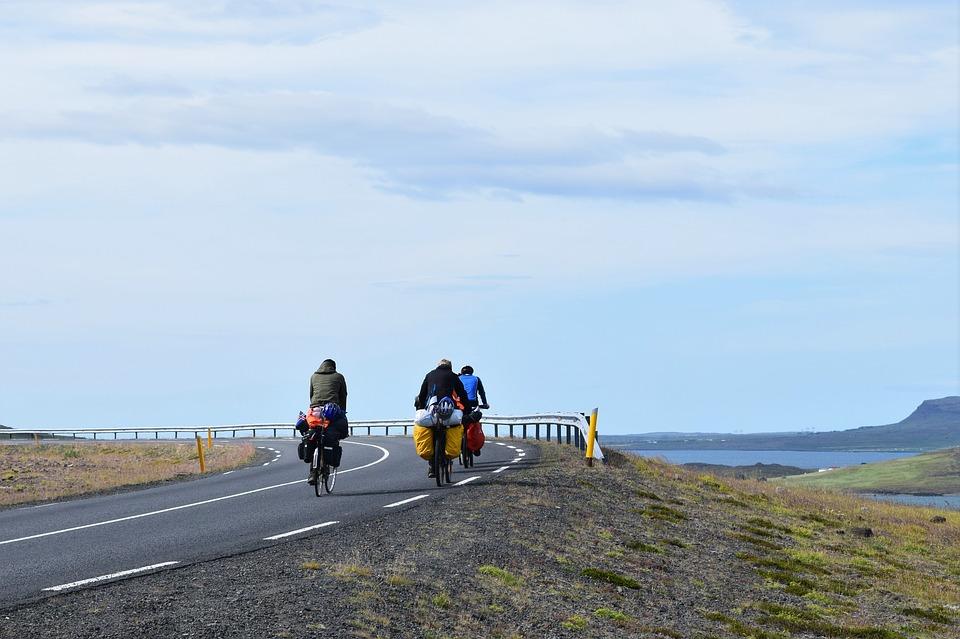 bicycle tourists