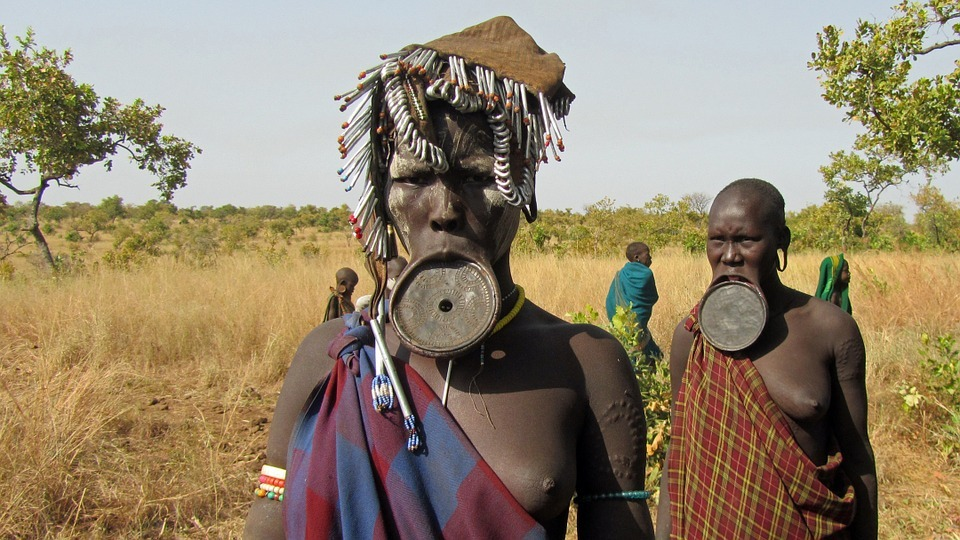 Mursi woman in the Omo Valley