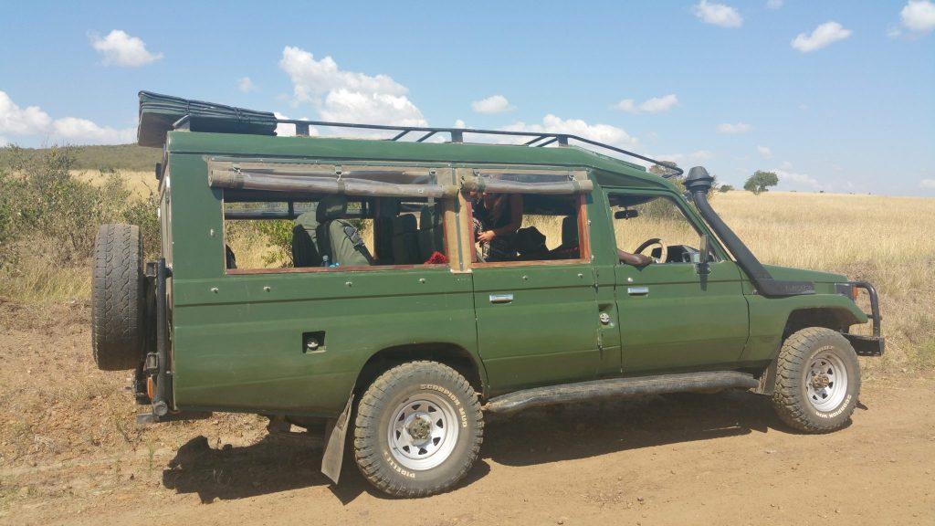 safari truck in Maasai Mara National Park