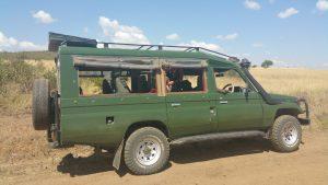 Safari truck in Maasai Mara, Kenya