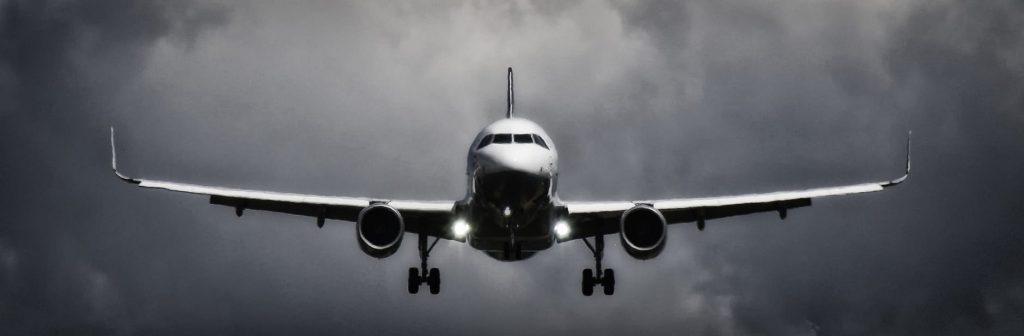 a flight landing