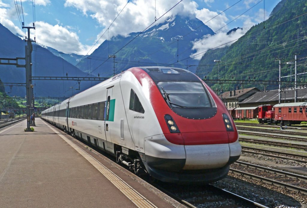 a European train