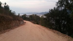 Dirt road along the shore of Lake Kivu