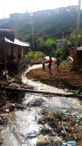 River running through Kibera