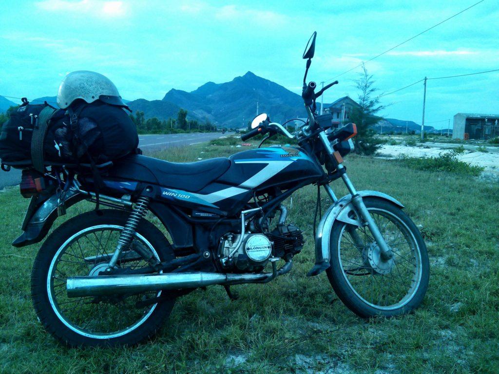 My Honda Win 100 somewhere in central Vietnam