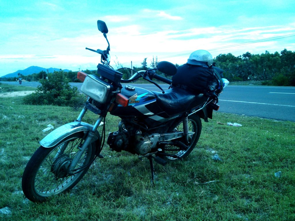 Honda Win 100 motorcycle in Central Vietnam
