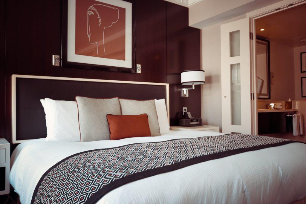 a basic hotel room