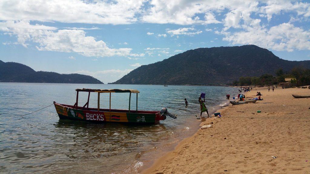 a sandy beach on Lake Malawi