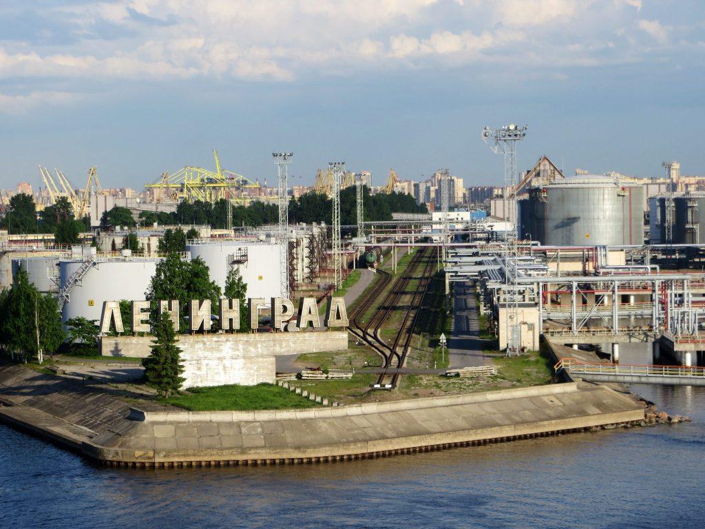Entering the port of St. Petersburg