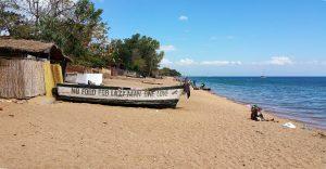 Sandy beach Cape Maclear, Lake Malawi