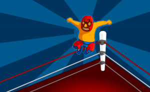 A lucha libre wrestler