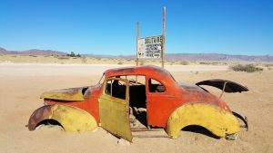 old car in Solitaire, Namibia