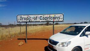 The Tropic of Capricorn, Namibia