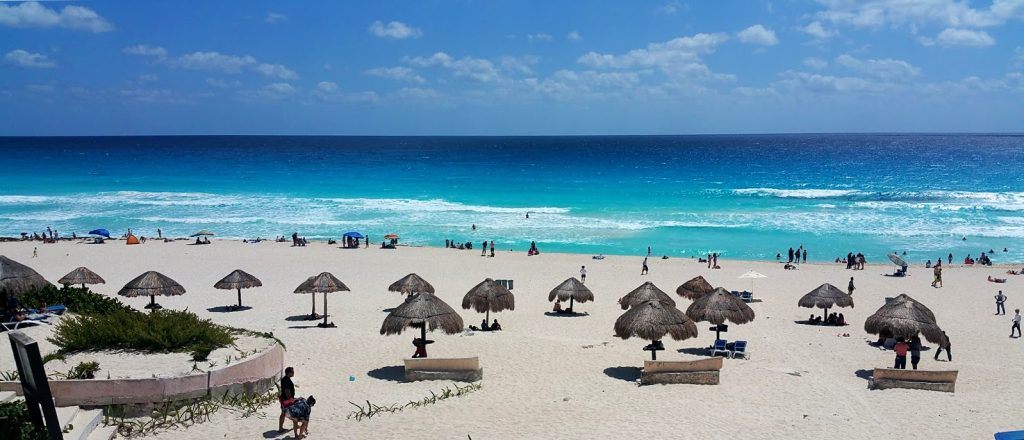 Cancun beach off season
