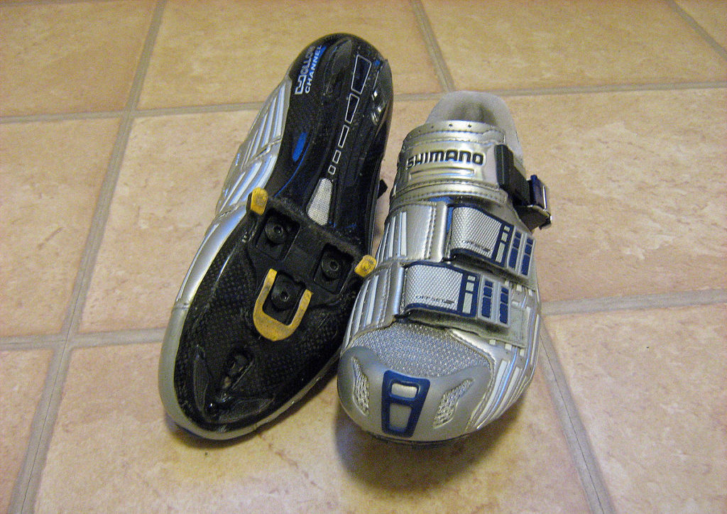 Three bolt Shimano SPD SL clipless shoes