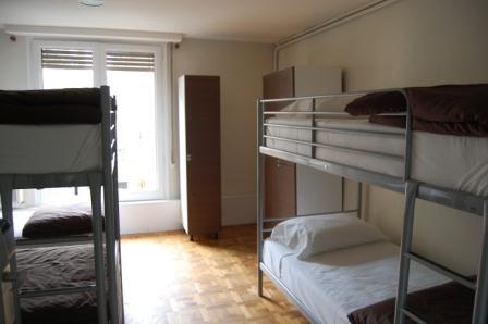 a hostel dorm room