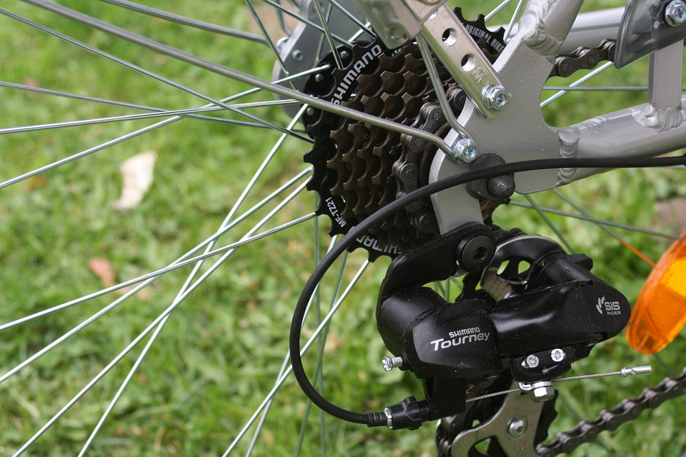 a clean bicycle drivetrain