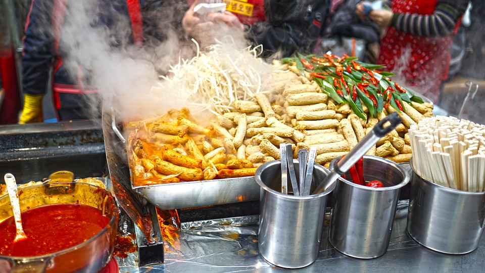 Street food stand in Asia