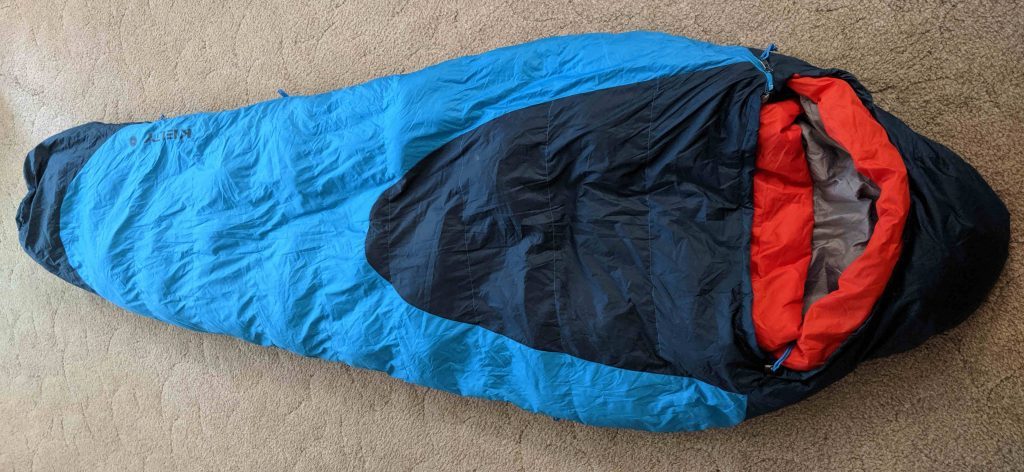 sleeping bag insulated with duck down