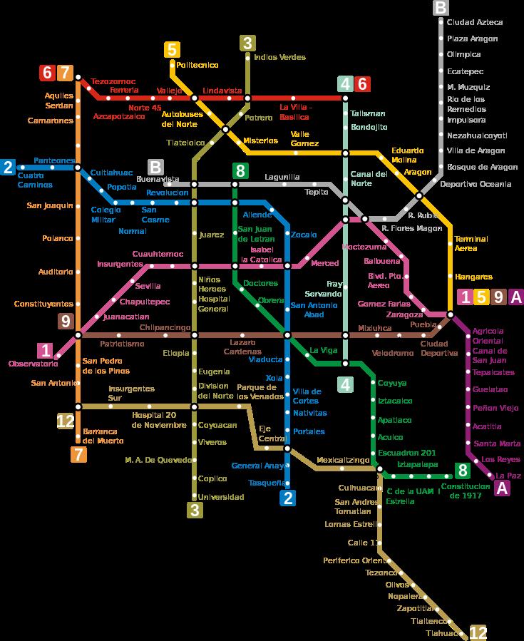 Mexico City metro map