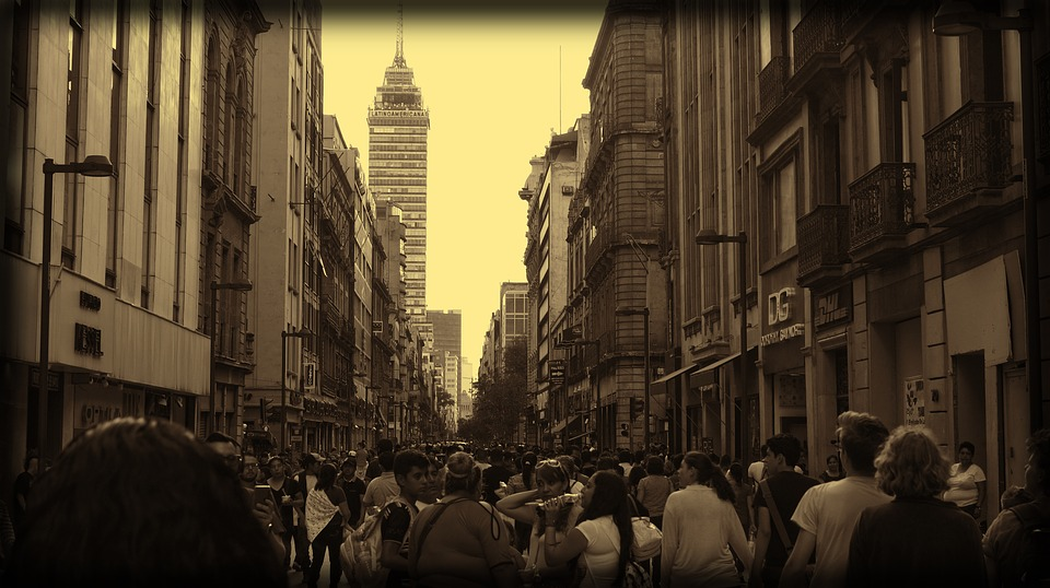 A walking street in Mexico City