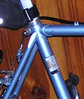 Lugged tube bike frame