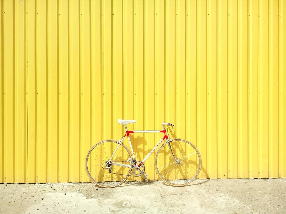 a vintage steel bicycle