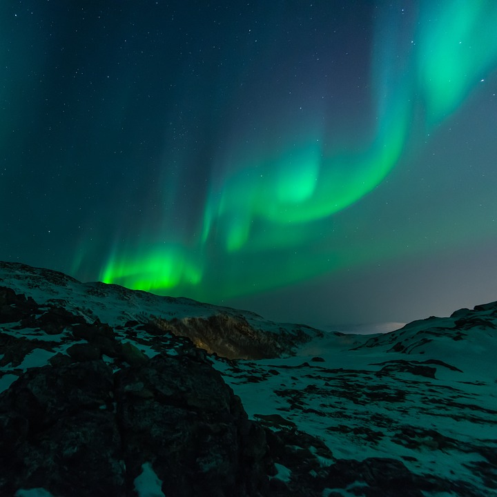 The northern lights or Aurora Borealis