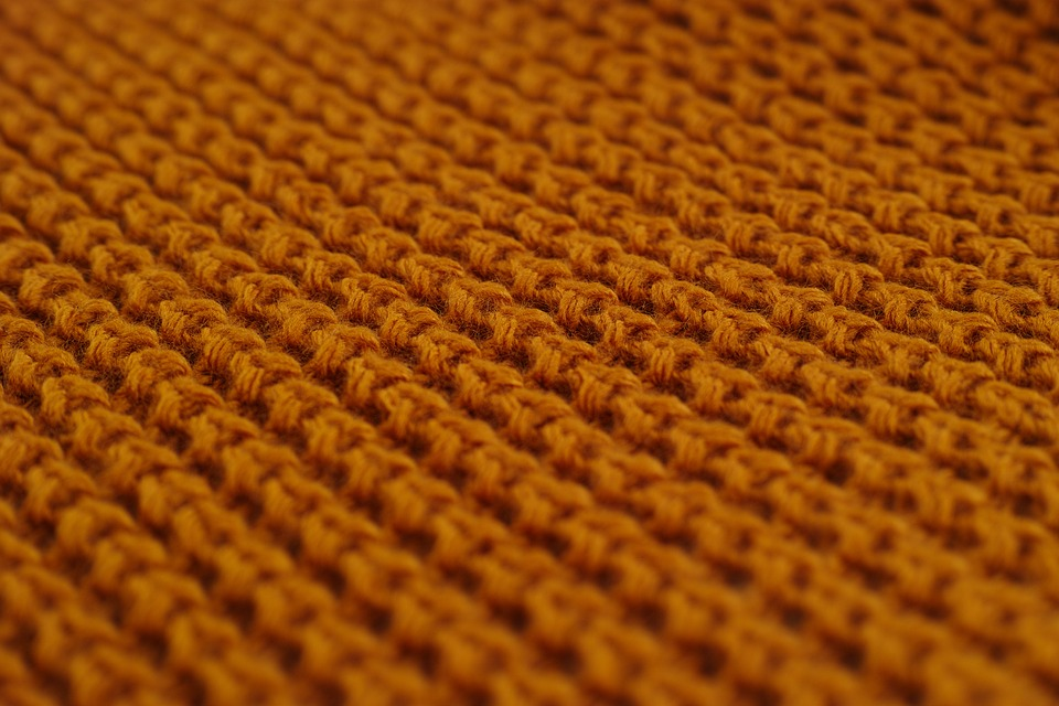 An upclose view of a wool sweater