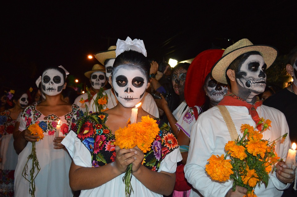 people celebrating a holiday in Mexico