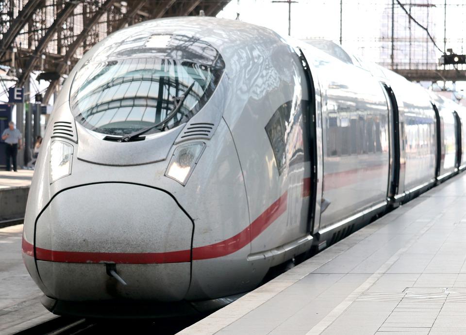 a modern train