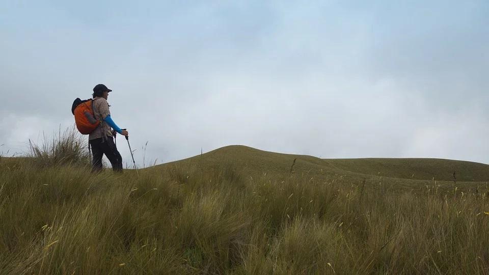 hiker and backapck