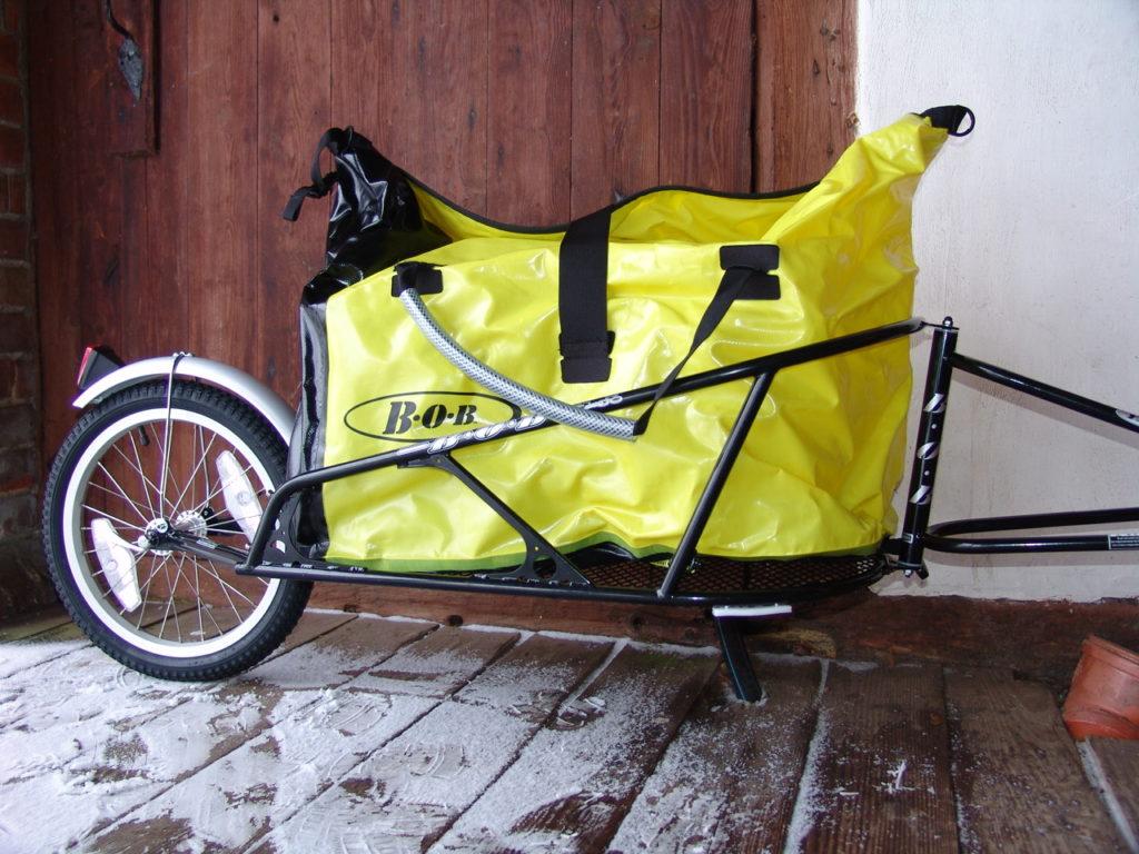 one wheeled bike trailer