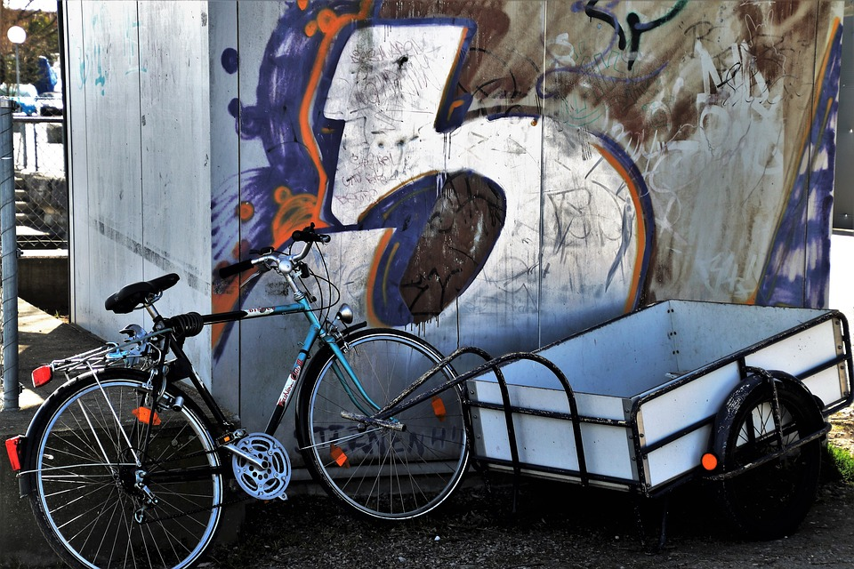 a large cargo bike trailer