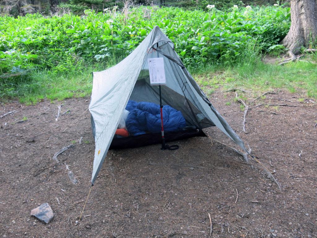 non-freestanding Tarp Tent