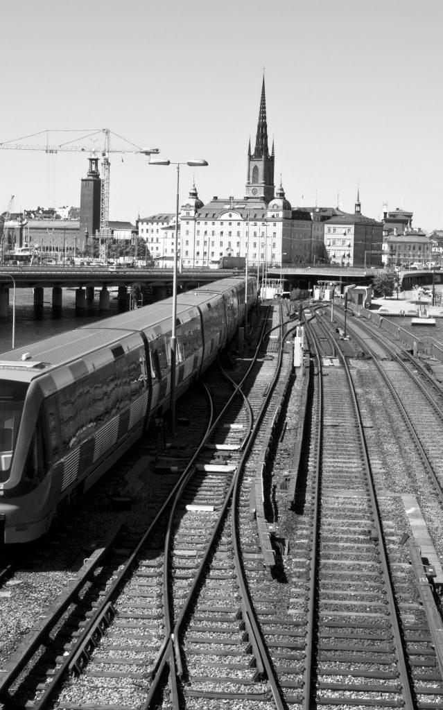 train tracks in Stockholm