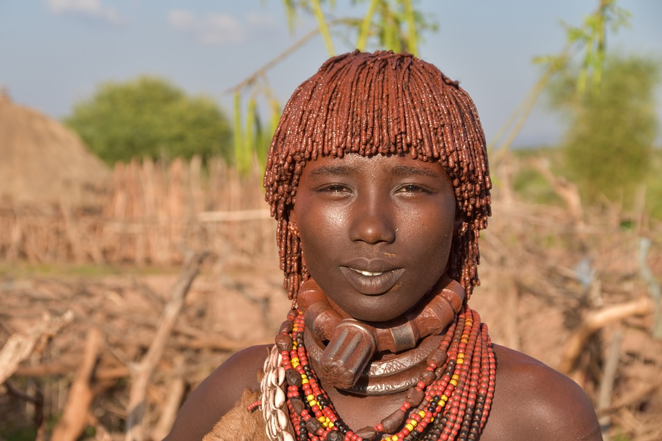 A hamar tribe woman in the Omo Valley