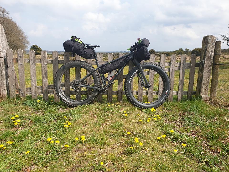 fat bike with bikepacking bags