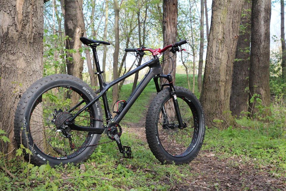 a fat bike on a trail