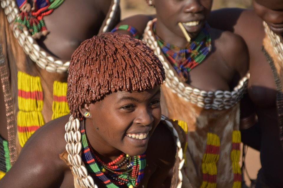 hamar tribe girls in the Omo Valley