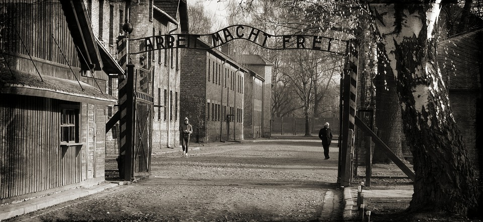 Gates of Auschwitz concentration camp
