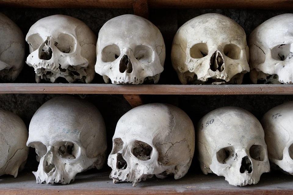 skulls at an ossuary