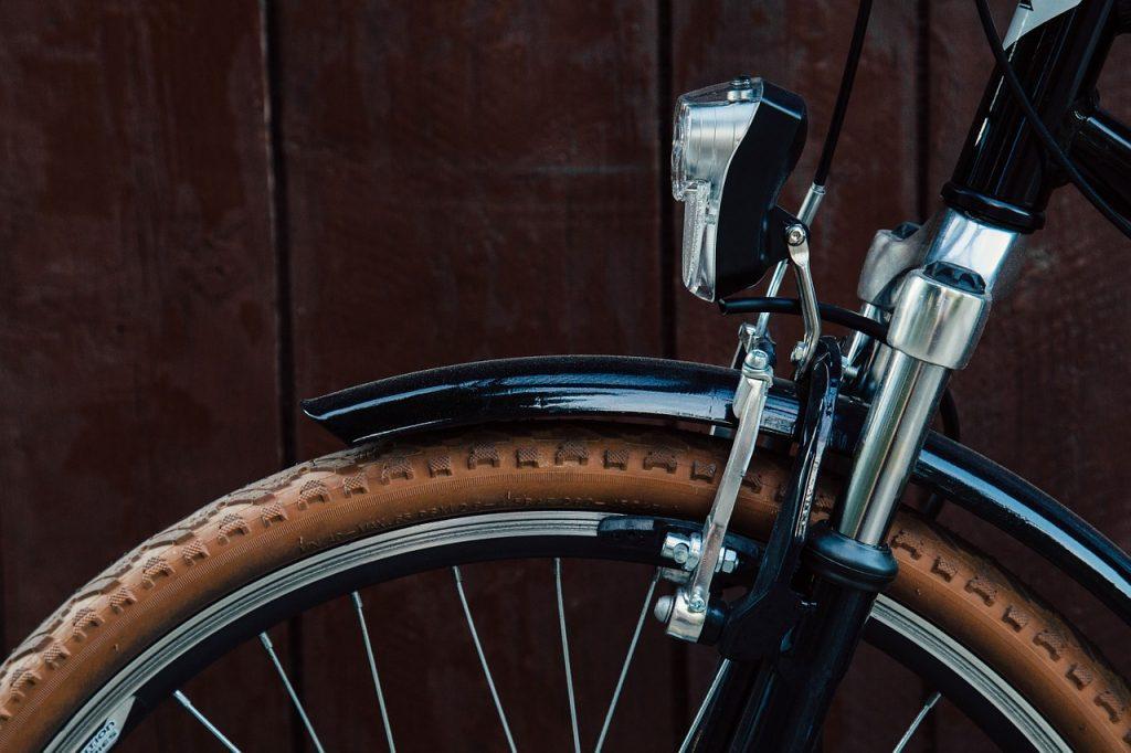 a bike with a dynamo headlight