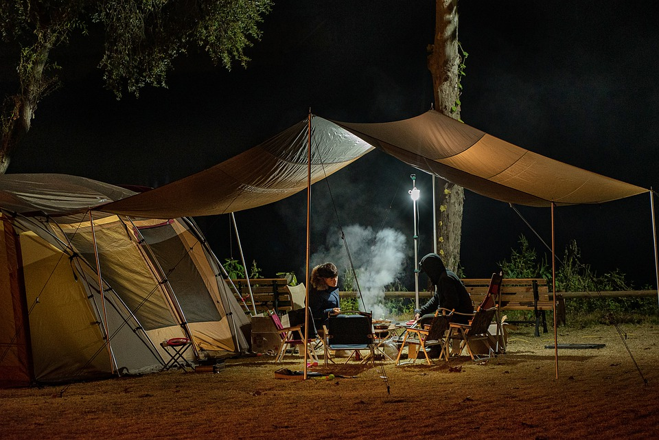 A nice car camping setup