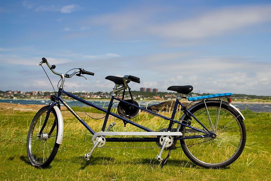 A tandem bike