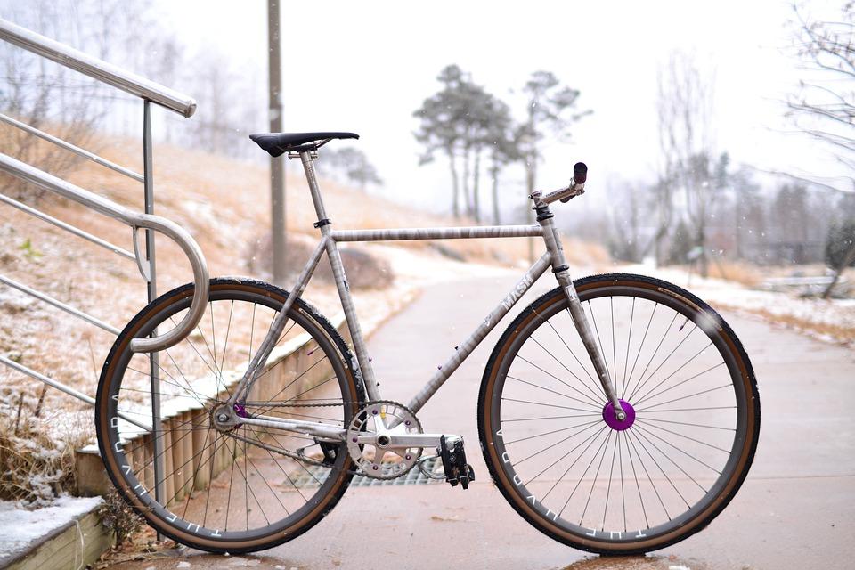 A fixed gear single speed bike